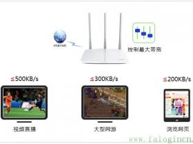 falogin.cn设置[传统界面] 如何设置IP带宽控制?